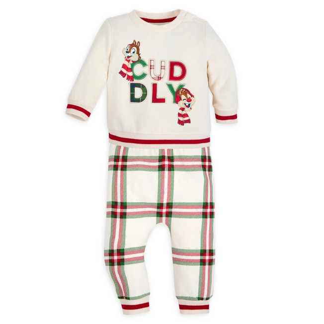 Chip 'n Dale Holiday Top and Pants Set for Baby