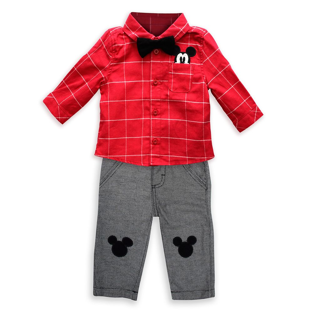 Mickey Mouse Holiday Shirt and Pant Set for Baby