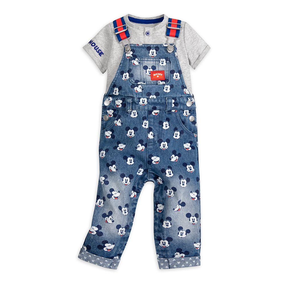 Mickey Mouse Henley Shirt and Dungaree Set for Baby