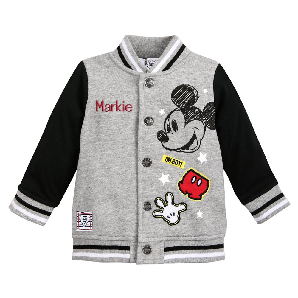 Mickey Mouse Bomber Jacket for Baby – Personalized