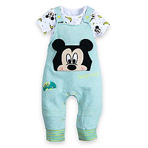 Mickey Mouse Bodysuit and Dungaree Set for