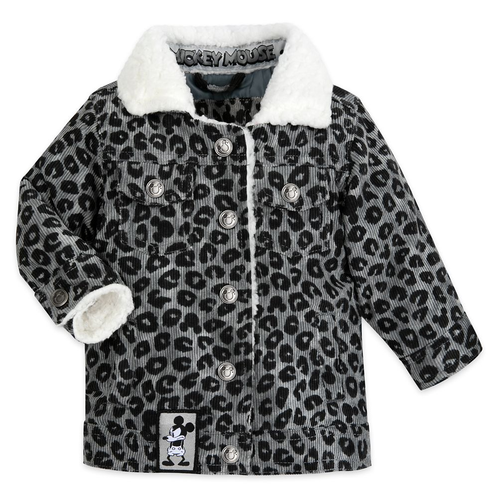 Mickey Mouse Grayscale Jacket for Baby