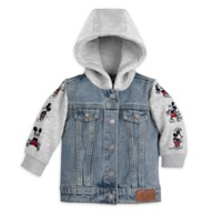 Mickey Mouse Hooded Denim Jacket for Baby