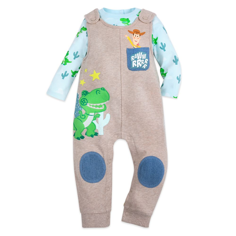Rex and Woody Dungaree and Bodysuit Set for Baby – Toy Story
