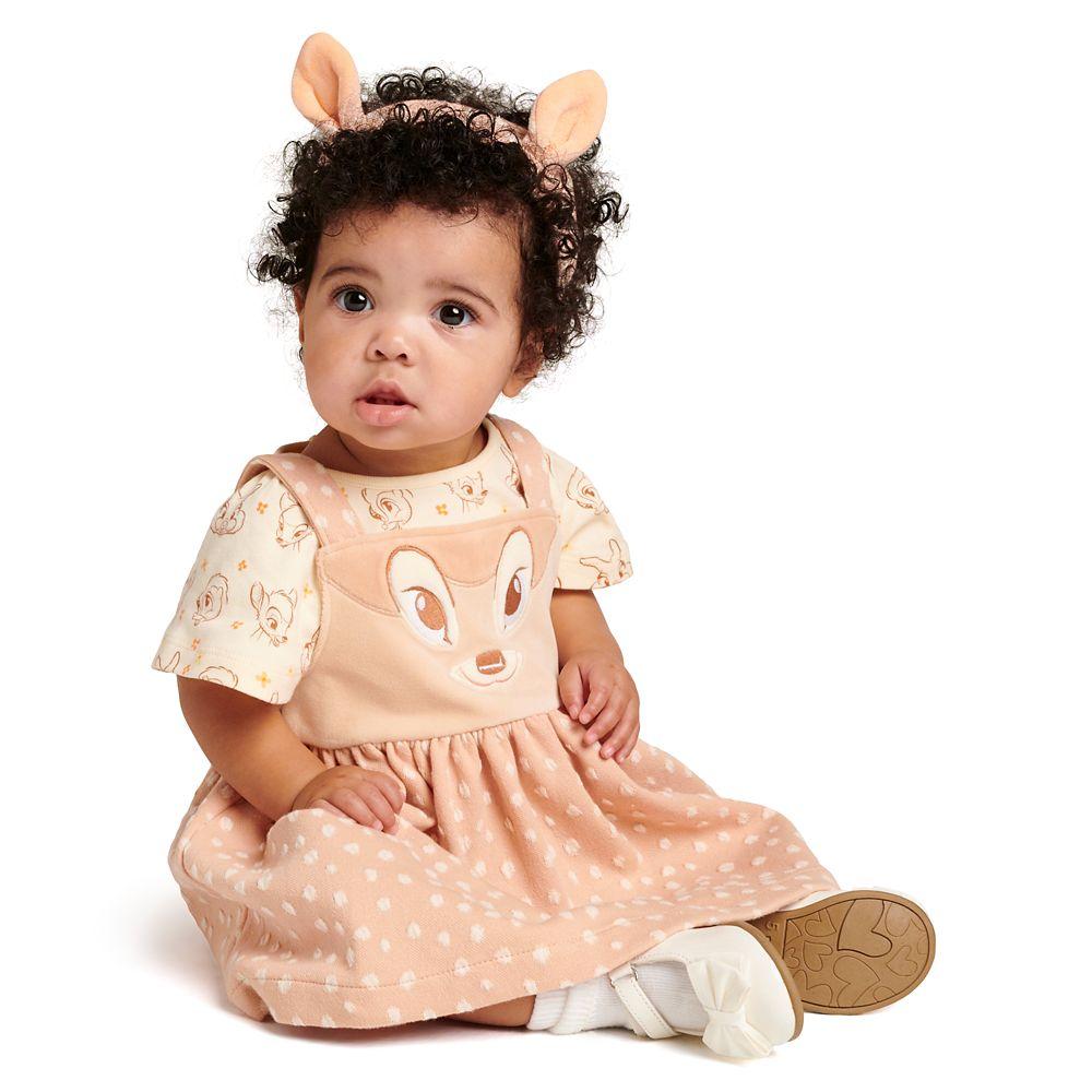 Bambi Jumper Dress and Bodysuit Set for Baby