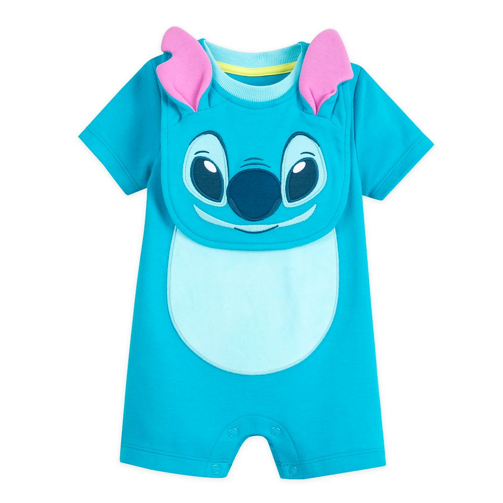 Stitch Costume Romper and Bib Set for Baby