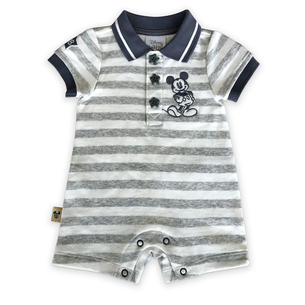 Mickey Mouse Striped Romper for Baby