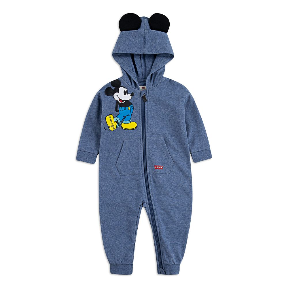 Mickey Mouse Hooded Coverall for Baby by Levi's