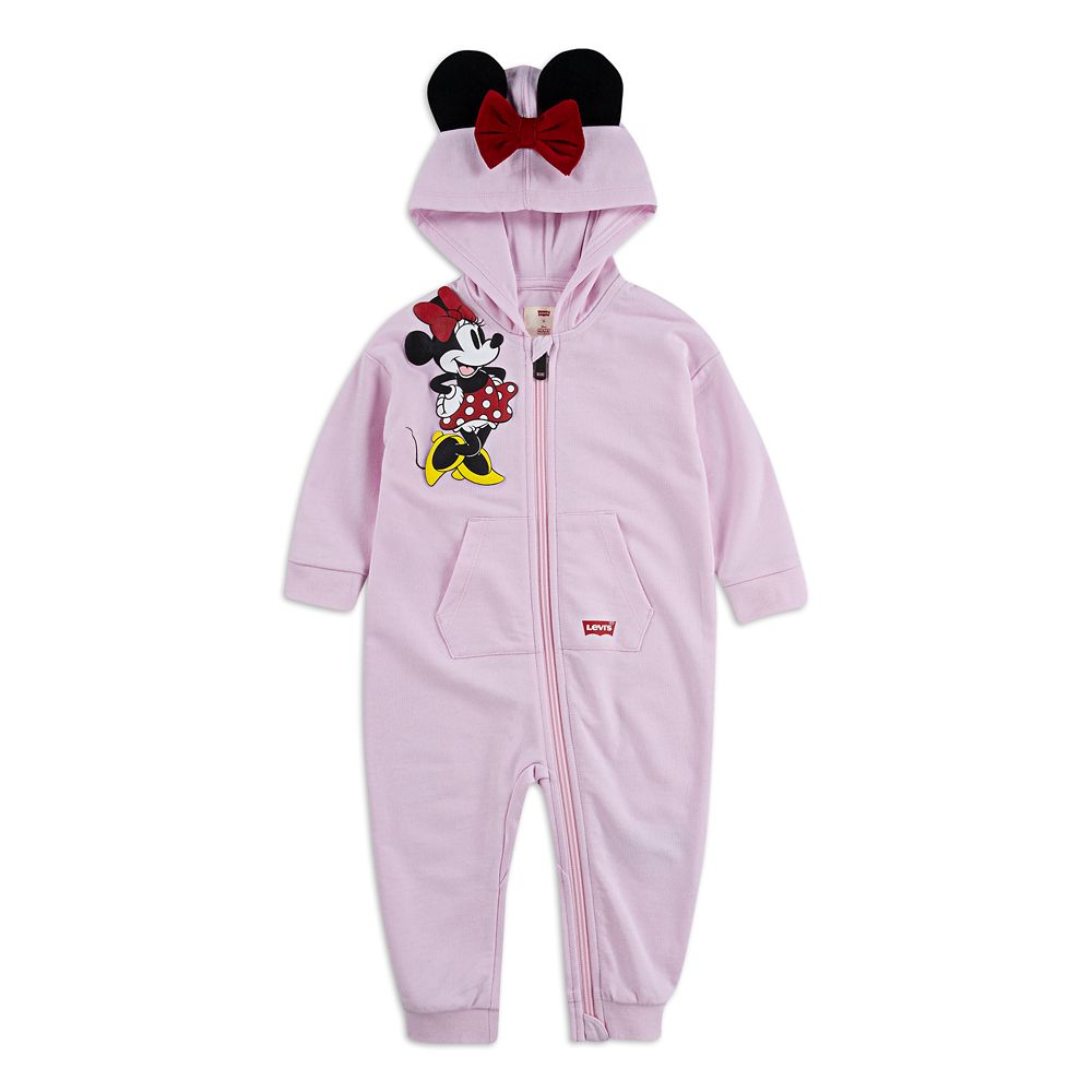 Minnie Mouse Hooded Coverall for Baby by Levi's