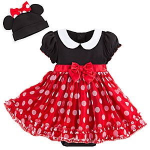 Minnie Mouse Red Costume Bodysuit Set for Baby - Personalizable