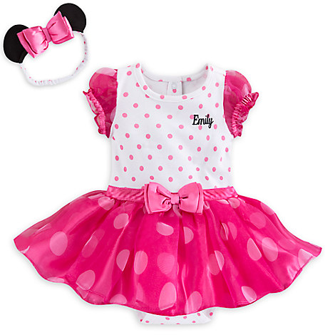 Minnie Mouse Pink Costume Bodysuit Set for Baby - Personalizable