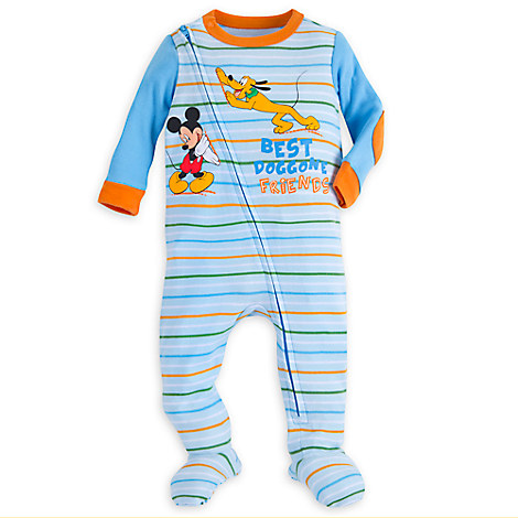 Mickey Mouse and Pluto Stretchie Sleeper for Baby