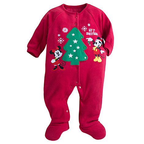 Mickey and Minnie Mouse ''My 1st Christmas'' Sleeper for Baby