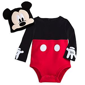Mickey Mouse Costume Bodysuit Set for Baby - Personalizable
