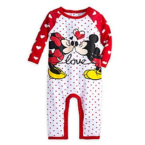 Mickey and Minnie Mouse Coverall for Baby