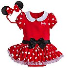 Minnie Mouse Costume Bodysuit for Baby - Red - Personalizable