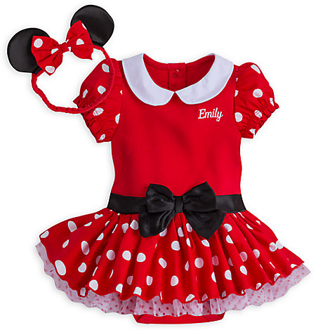 minnie mouse costume bodysuit for baby red personalizable disney store. Black Bedroom Furniture Sets. Home Design Ideas