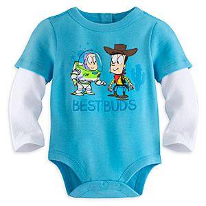Buzz Lightyear and Woody Disney Cuddly Bodysuit for Baby