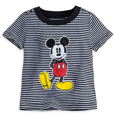 Mickey Mouse Striped Tee for Baby