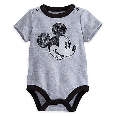 Mickey Mouse Ringer Disney Cuddly Bodysuit for Baby