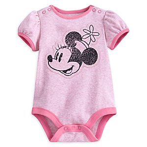 Minnie Mouse Ringer Disney Cuddly Bodysuit for Baby