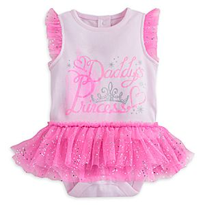 Disney Princess Disney Cuddly Bodysuit with Tutu for Baby
