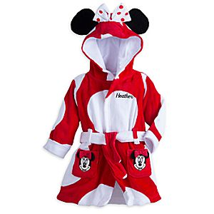 Minnie Mouse Bath Robe for Baby – Personalizable