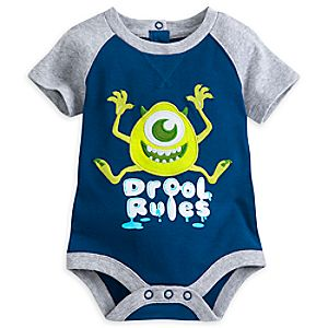Mike Wazowski Disney Cuddly Bodysuit for Baby