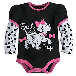 101 Dalmatians Long Sleeve Disney Cuddly Bodysuit for Baby