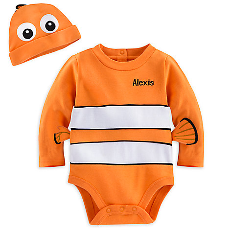 Nemo Costume Bodysuit Set for Baby - Personalizable