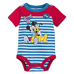 Mickey Mouse and Pluto Bodysuit for Baby