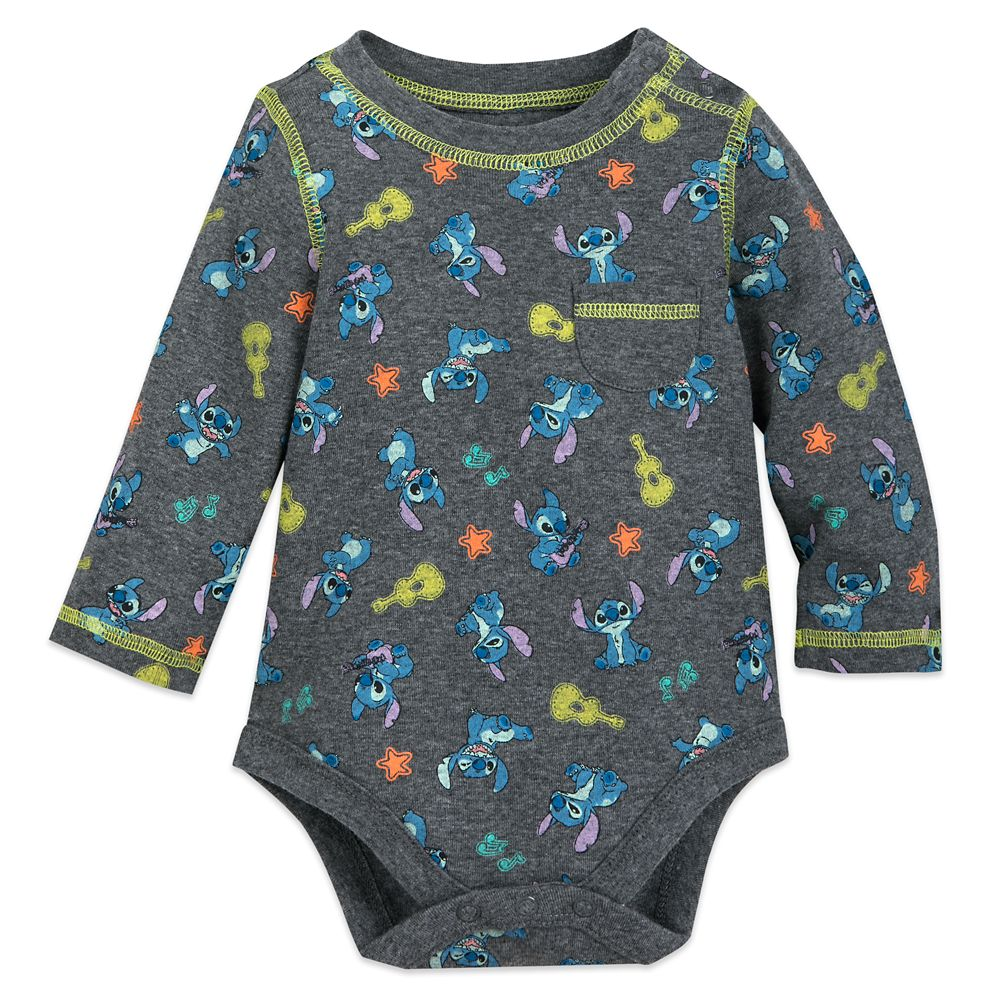 Stitch Long Sleeve Bodysuit for Baby