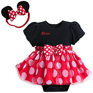 Minnie Mouse Costume Bodysuit for Baby - Personalizable
