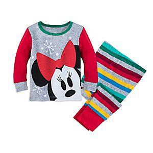 Image of Minnie Mouse Christmas Pajamas for Baby