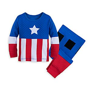 Image of Captain America Costume Pajamas for Baby