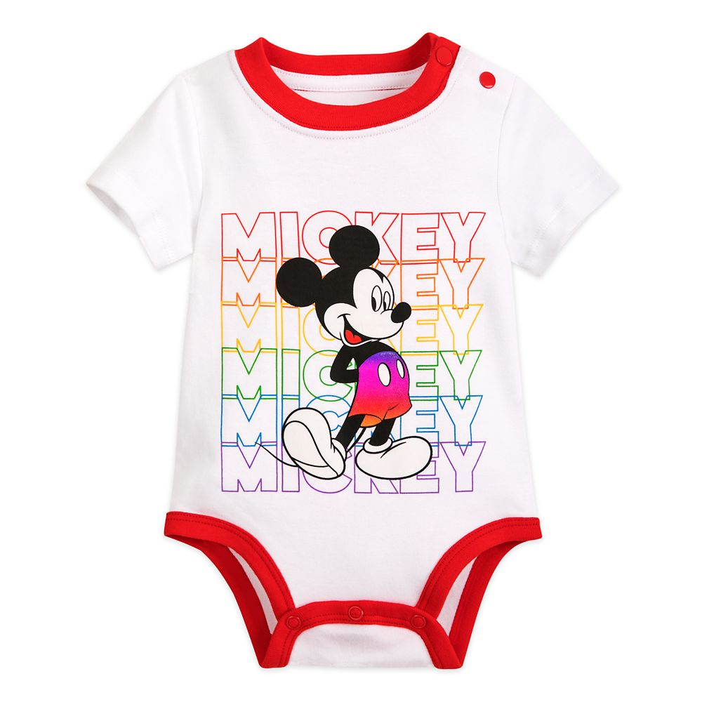 디즈니 베이비 '미키마우스' 바디수트 Rainbow Disney Collection Mickey Mouse Bodysuit for Baby – 2020