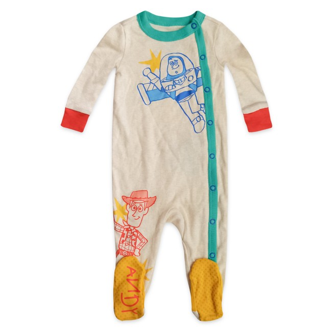 Woody and Buzz Lightyear Stretchie Sleeper for Baby – Toy Story