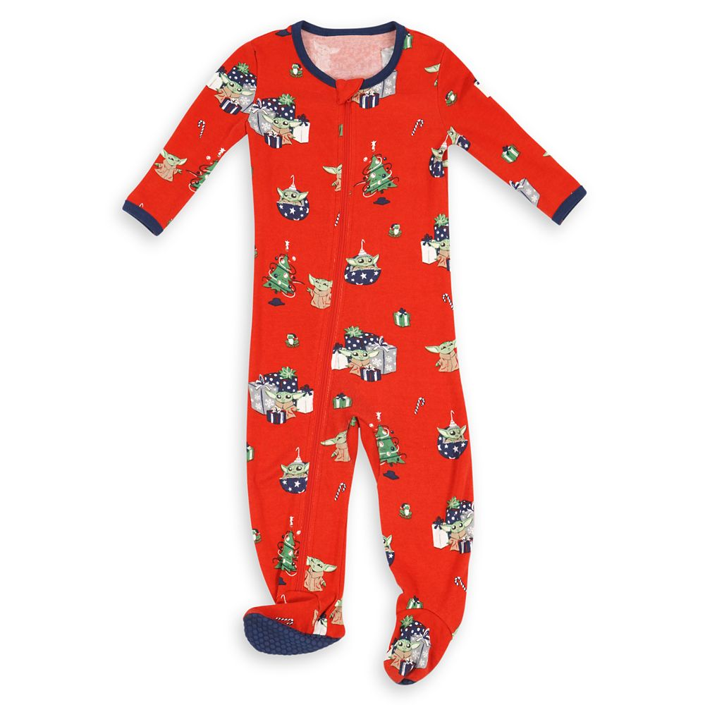 The Child Holiday Stretchie Sleeper for Baby by Munki Munki – Star Wars: The Mandalorian