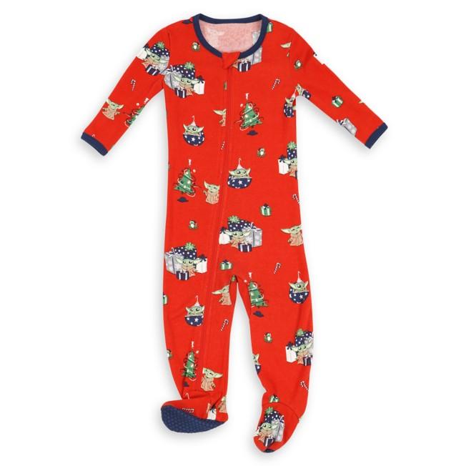 The Child Holiday Stretchie Sleeper for Baby by Munki Munki – Star Wars: The Mandalorian