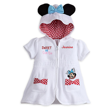 Minnie Mouse Swim Cover-Up for Baby - Personalizable