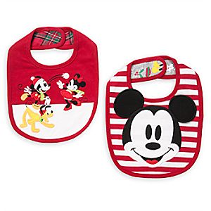 Mickey and Minnie Mouse Bib Set for Baby - 2-Pack