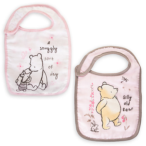 Winnie the Pooh Bib Set for Baby - Pink - 2-Pack