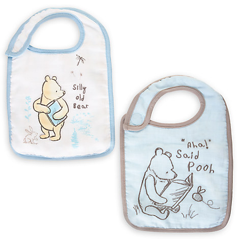 Winnie the Pooh Bib Set for Baby - Blue - 2-Pack