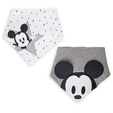 Mickey Mouse Layette Bandana Bib Set for Baby - 2-Pack