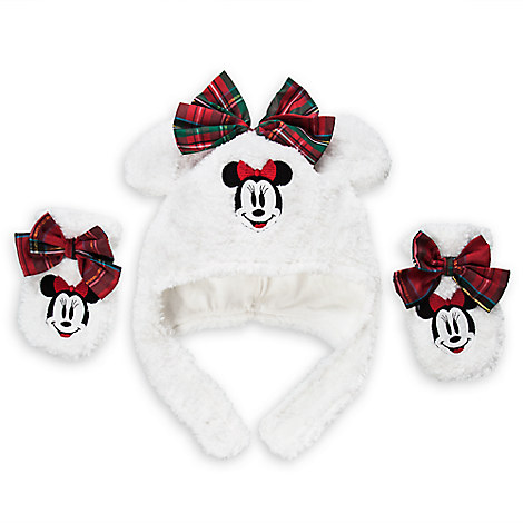 Minnie Mouse Holiday Hat and Mitten Set for Baby