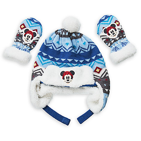 Mickey Mouse Winter Hat and Mittens Set for Baby