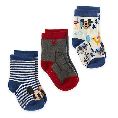 Mickey Mouse Sock Set for Baby - 3-Pack
