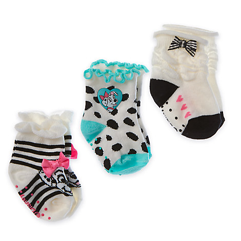 101 Dalmatians Sock Set for Baby - 3-Pack - Girls