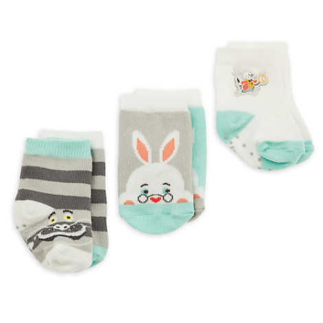Alice in Wonderland Sock Set for Baby - 3-Pack - Boys