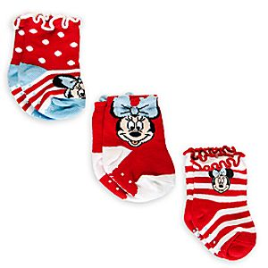 Minnie Mouse Sock Set for Baby  -  3 - Pack